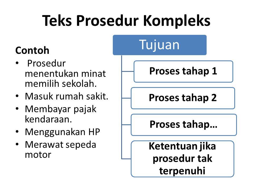 Teks Prosedur Kompleks