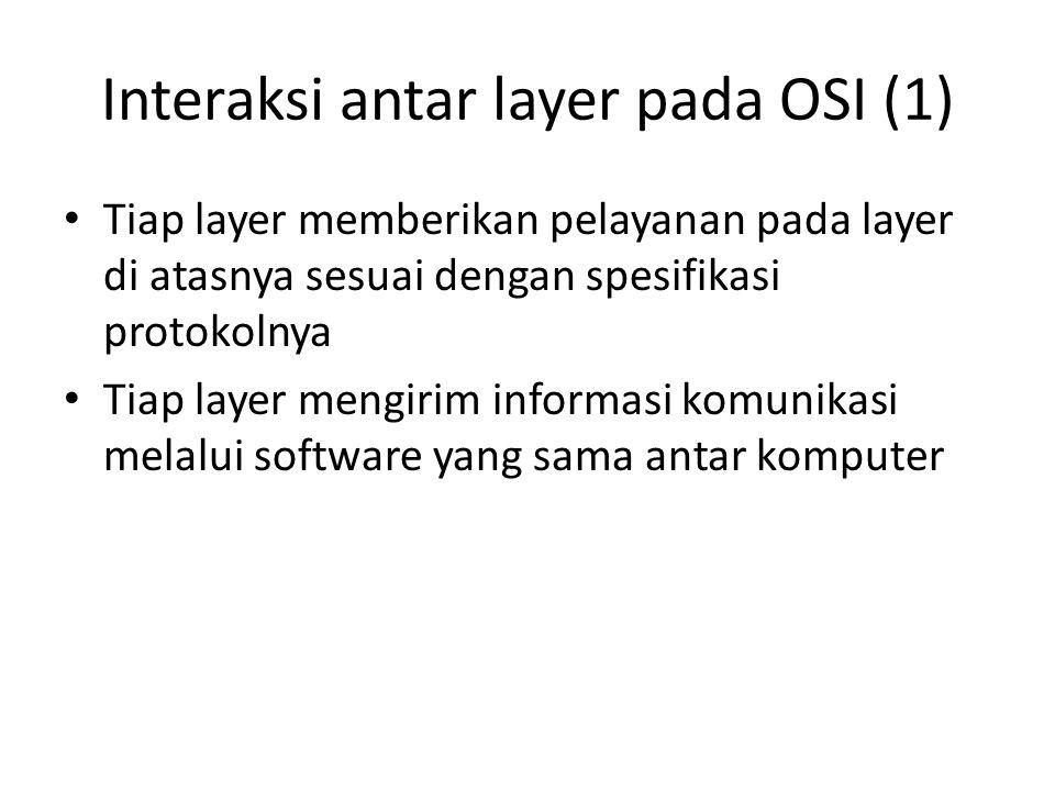 Interaksi antar layer pada OSI (1)