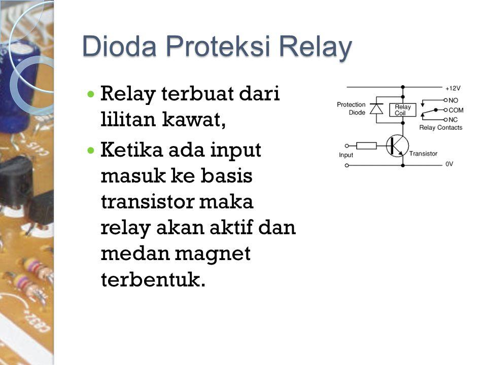 Dioda Proteksi Relay Relay terbuat dari lilitan kawat,