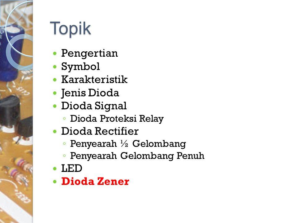 Topik Pengertian Symbol Karakteristik Jenis Dioda Dioda Signal