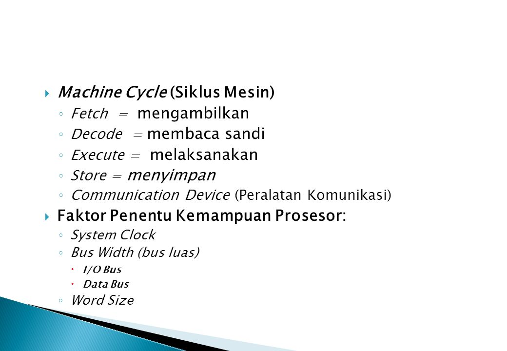 Machine Cycle (Siklus Mesin)