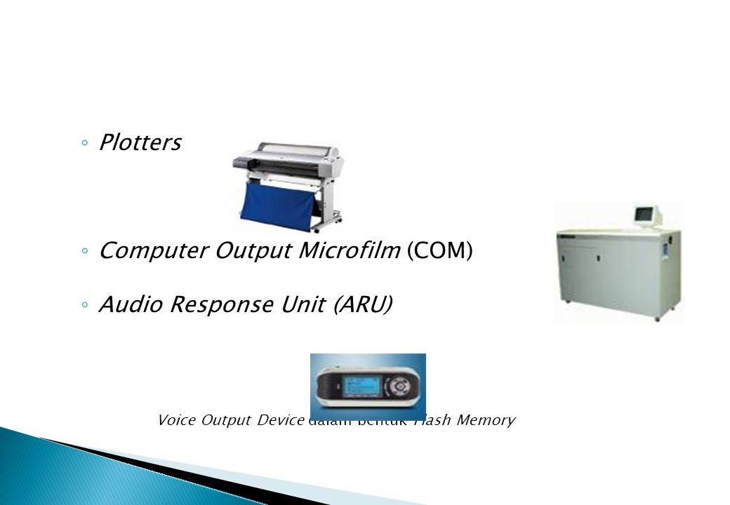 Computer Output Microfilm (COM) Audio Response Unit (ARU)
