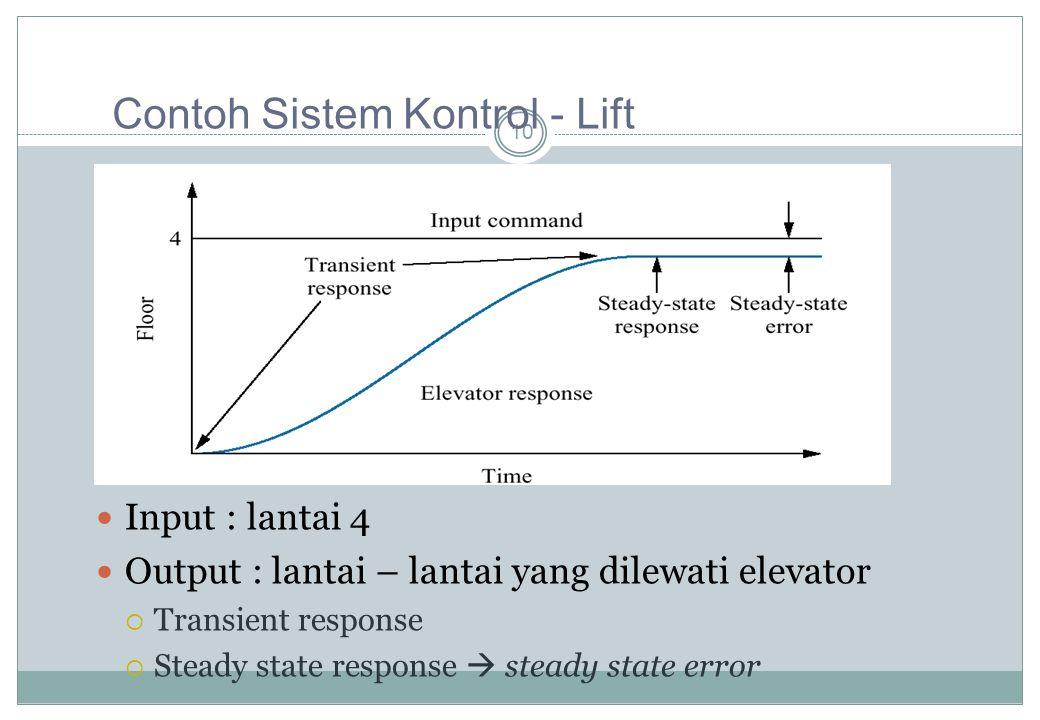 Contoh Sistem Kontrol - Lift