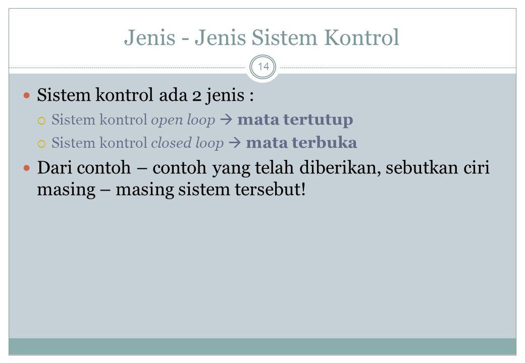 Jenis - Jenis Sistem Kontrol