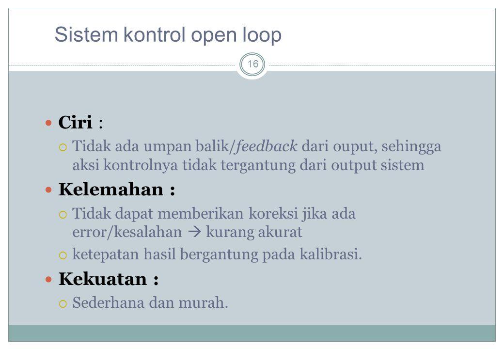 Sistem kontrol open loop