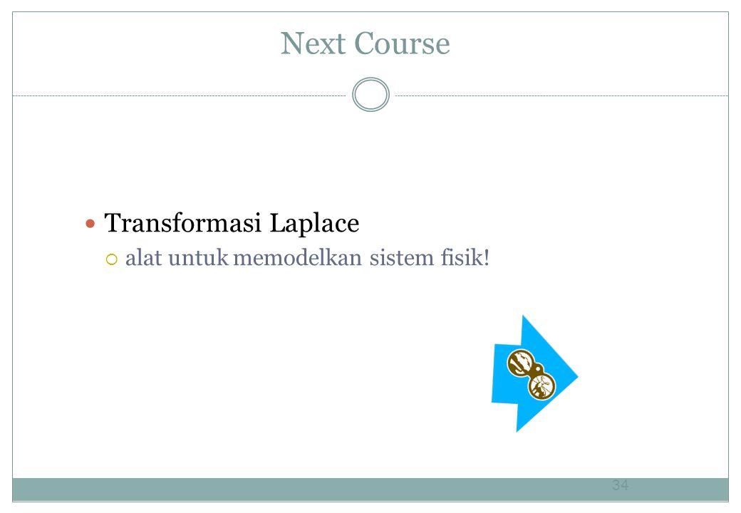 Next Course Transformasi Laplace alat untuk memodelkan sistem fisik!