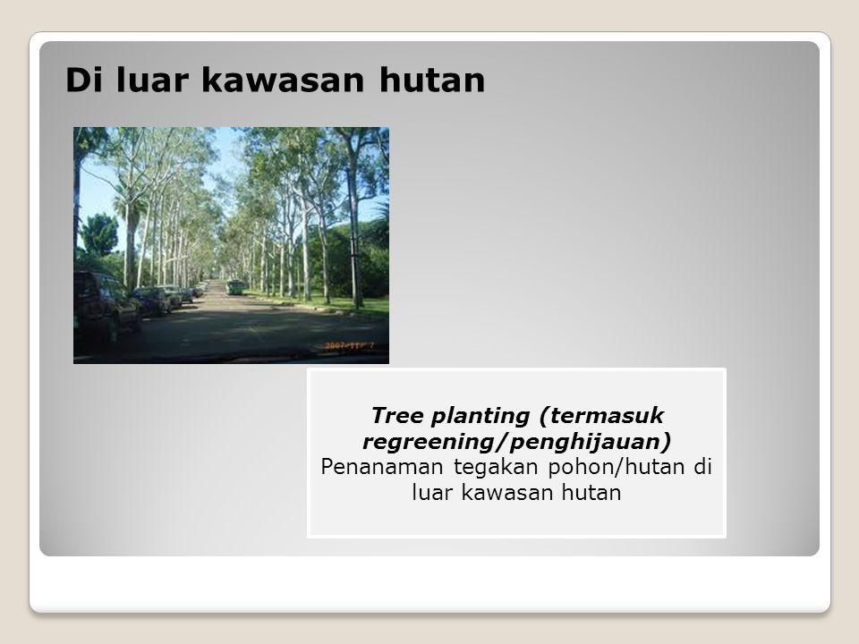Tree planting (termasuk regreening/penghijauan)