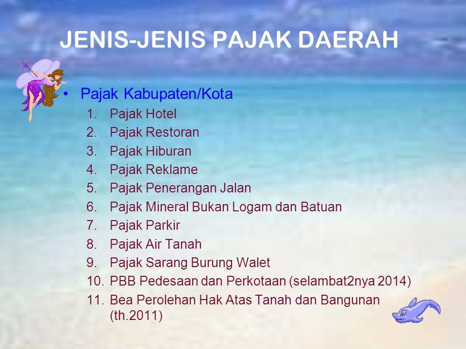 JENIS-JENIS PAJAK DAERAH