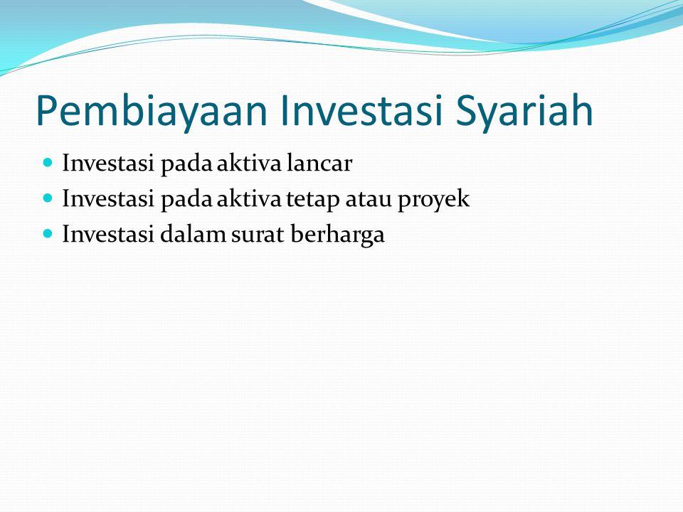 Pembiayaan Investasi Syariah