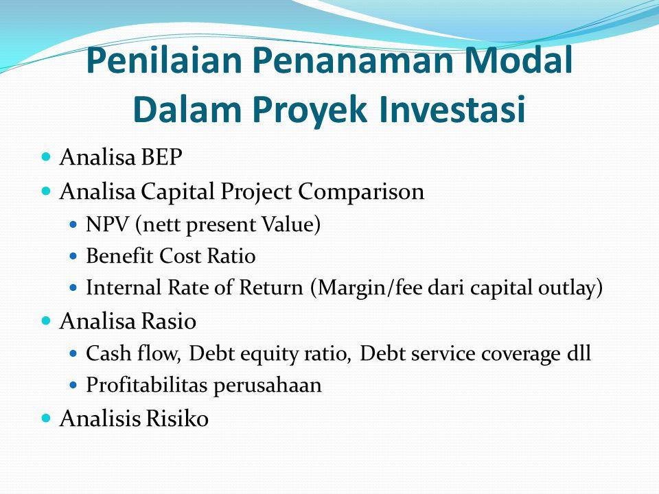 Penilaian Penanaman Modal Dalam Proyek Investasi