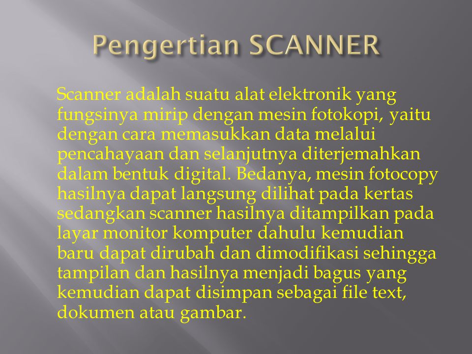 Pengertian SCANNER