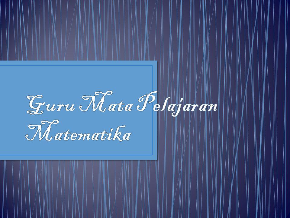 Guru Mata Pelajaran Matematika
