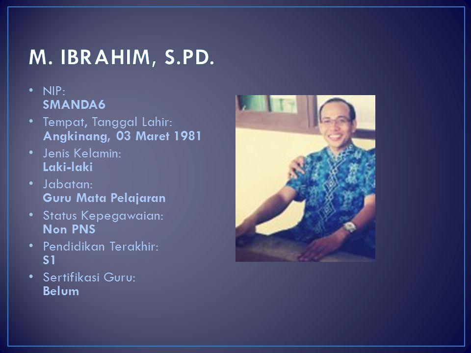 M. IBRAHIM, S.PD. NIP: SMANDA6