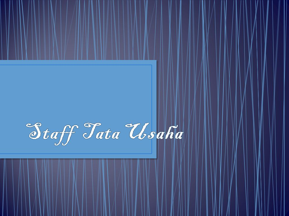Staff Tata Usaha