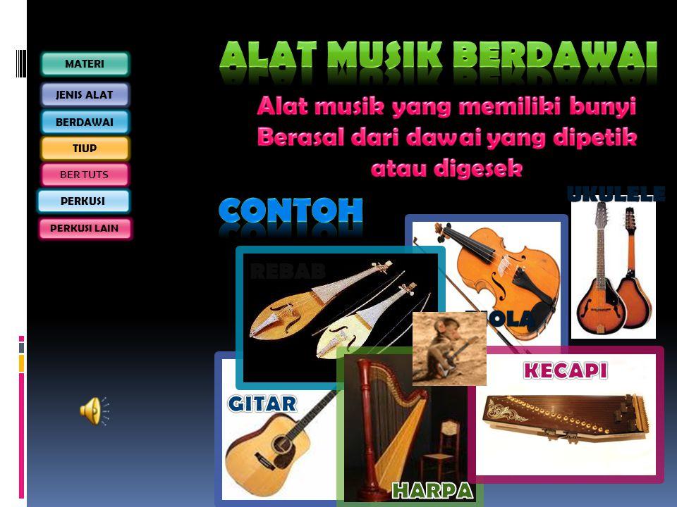 Alat musik Berdawai Contoh Alat musik yang memiliki bunyi