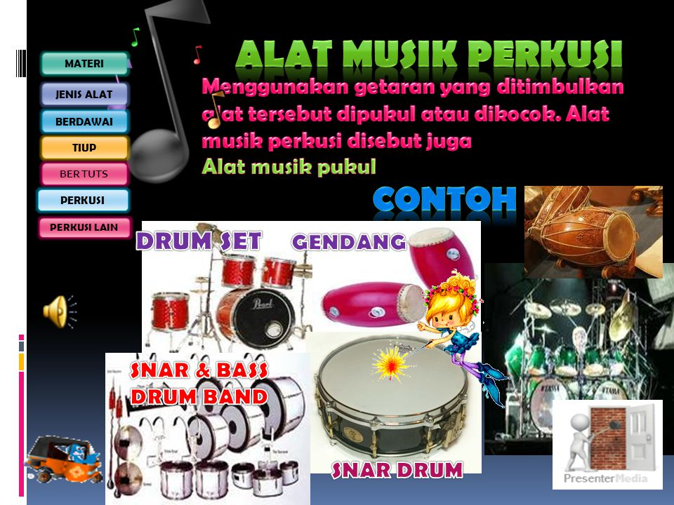 Alat musik PERKUSI Contoh Drum set