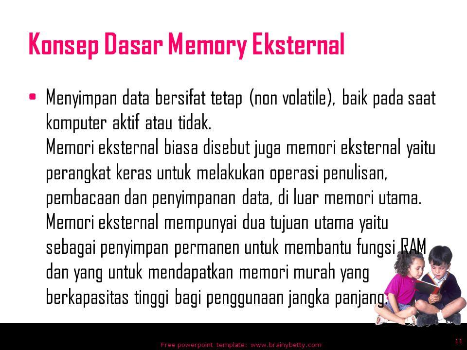 Konsep Dasar Memory Eksternal