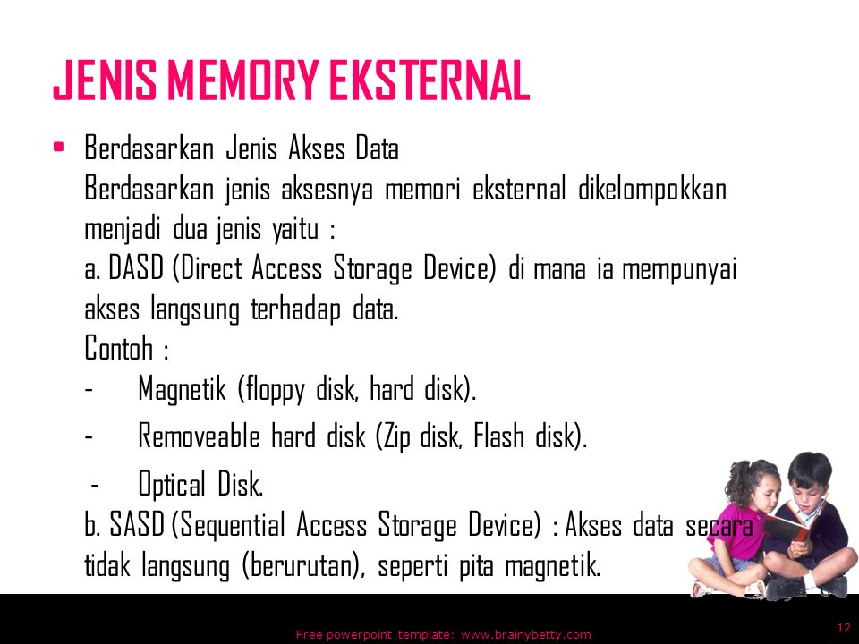 JENIS MEMORY EKSTERNAL