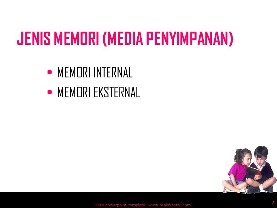 JENIS MEMORI (MEDIA PENYIMPANAN)