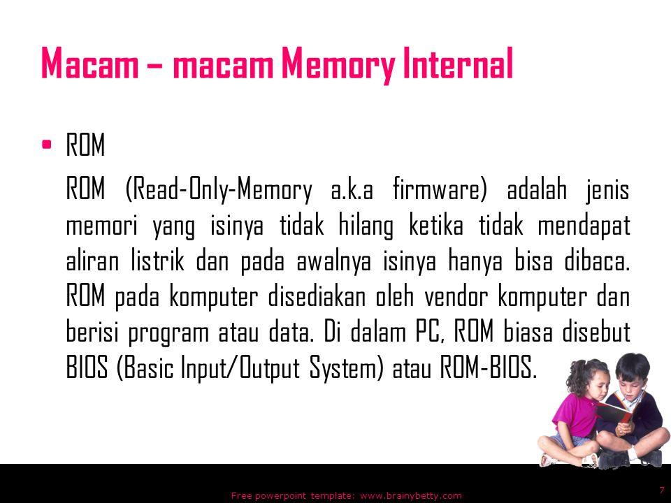 Macam – macam Memory Internal