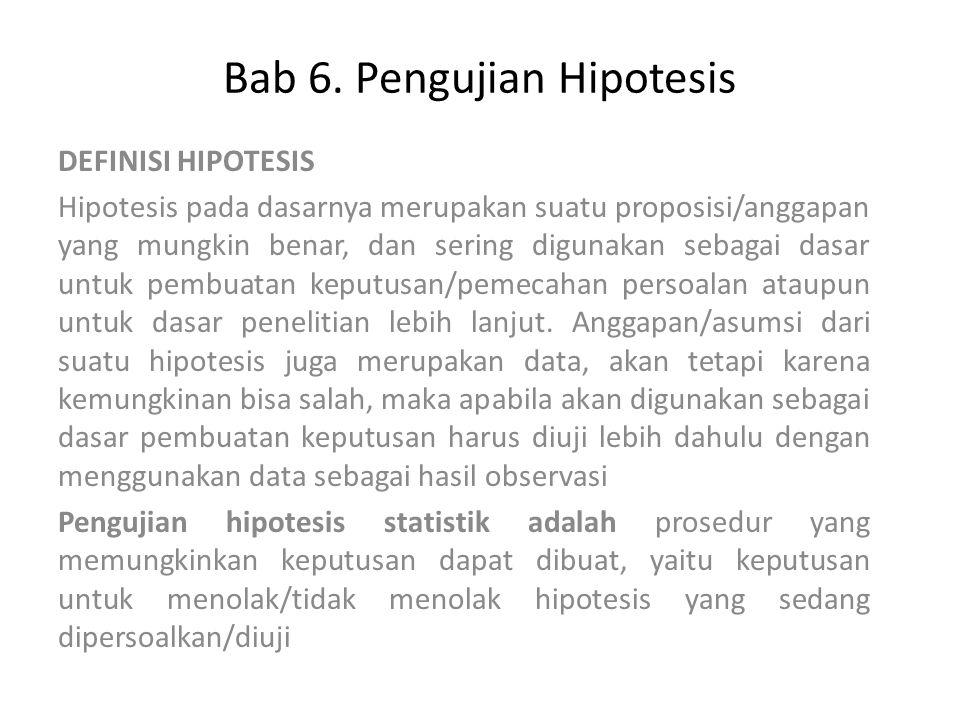 Bab 6. Pengujian Hipotesis