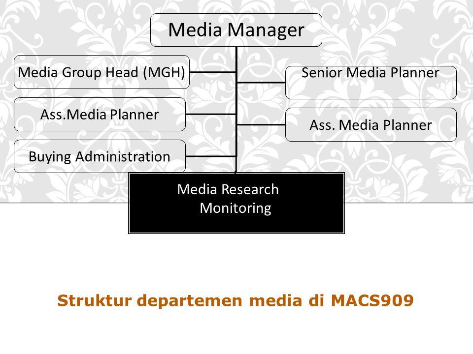 Struktur departemen media di MACS909