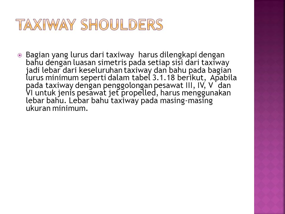Taxiway Shoulders