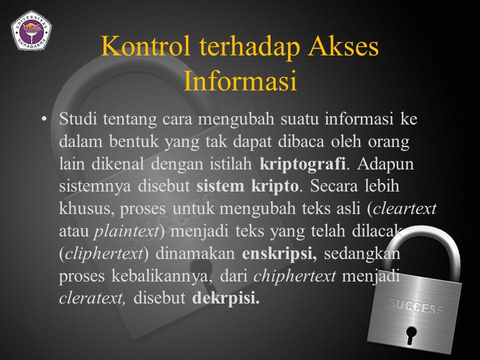 Kontrol terhadap Akses Informasi
