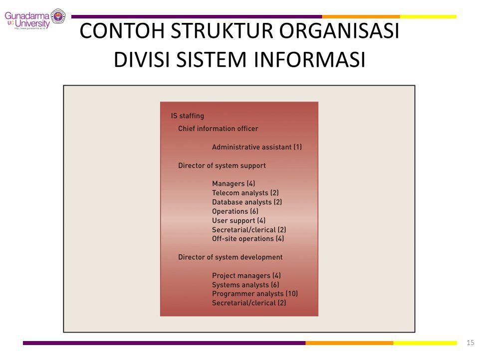 CONTOH STRUKTUR ORGANISASI DIVISI SISTEM INFORMASI