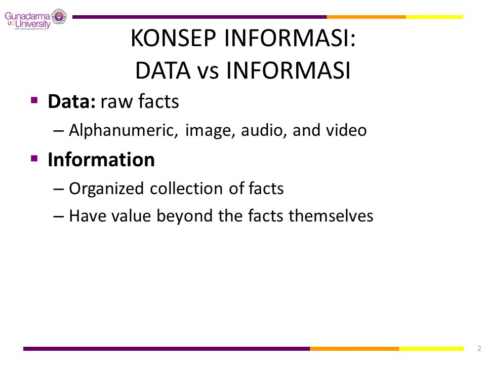 KONSEP INFORMASI: DATA vs INFORMASI