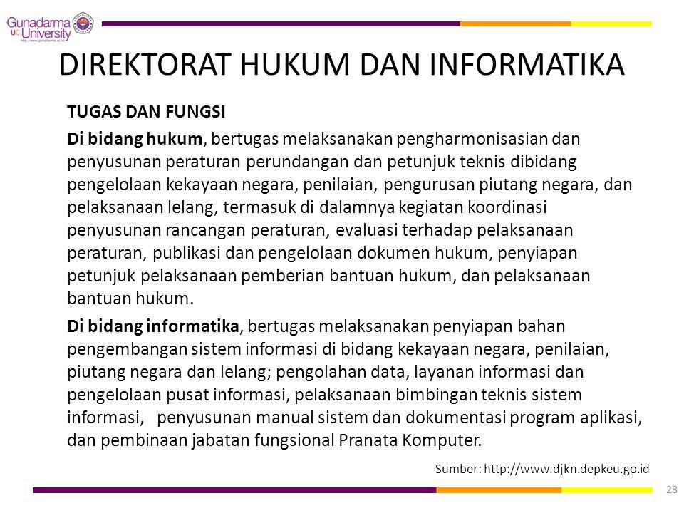 DIREKTORAT HUKUM DAN INFORMATIKA