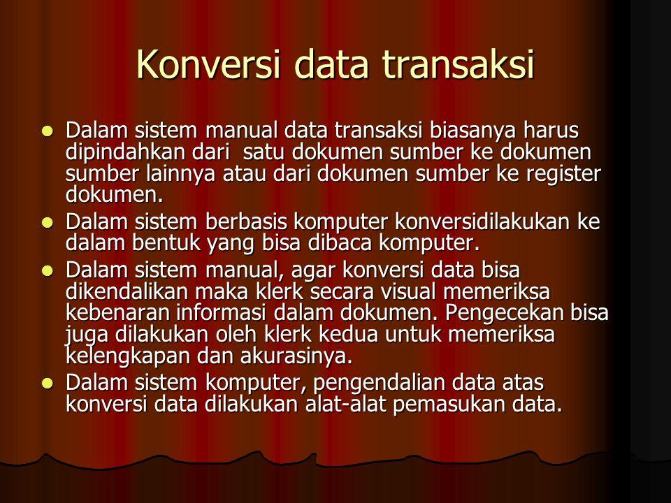 Konversi data transaksi