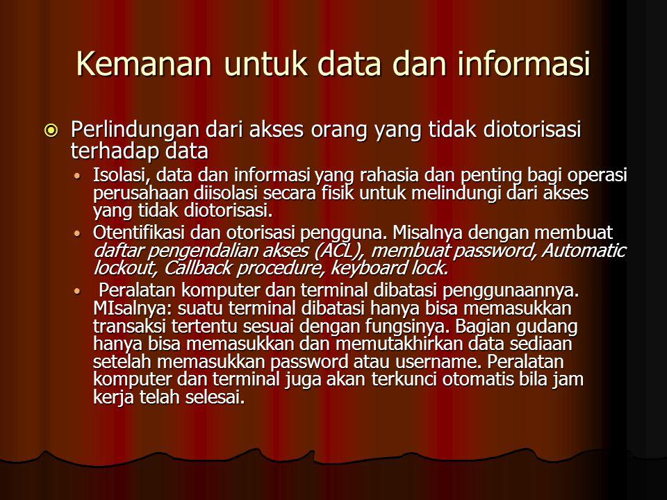 Kemanan untuk data dan informasi