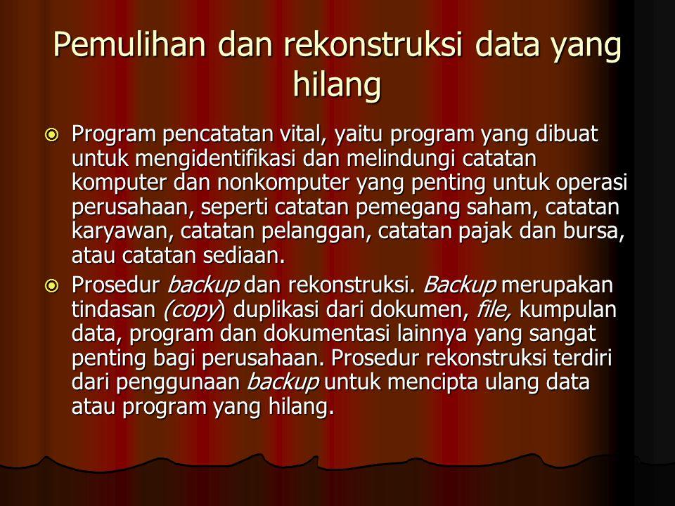 Pemulihan dan rekonstruksi data yang hilang