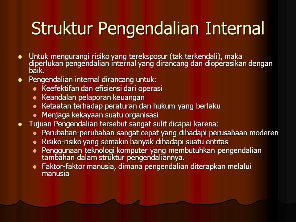 Struktur Pengendalian Internal