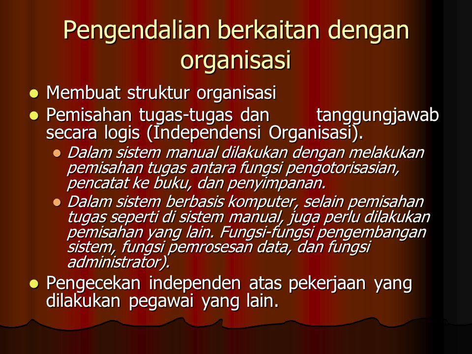 Pengendalian berkaitan dengan organisasi