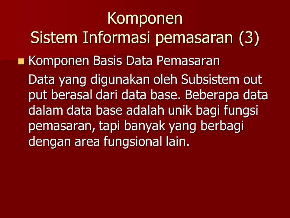 Komponen Sistem Informasi pemasaran (3)