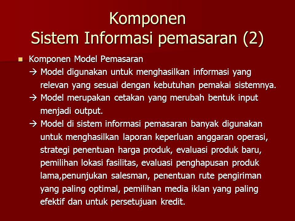 Komponen Sistem Informasi pemasaran (2)