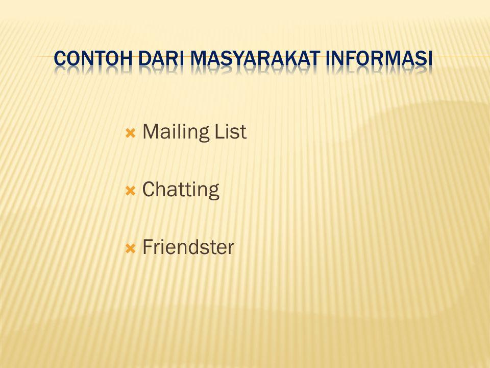 Contoh dari masyarakat informasi