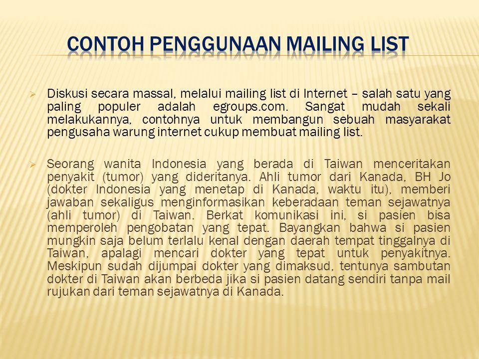 Contoh Penggunaan Mailing List