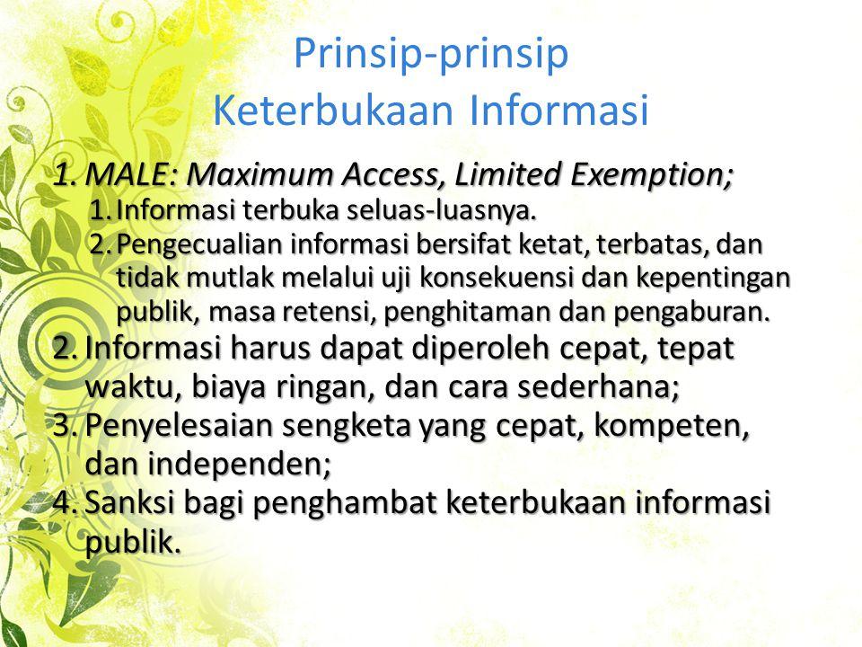 Prinsip-prinsip Keterbukaan Informasi