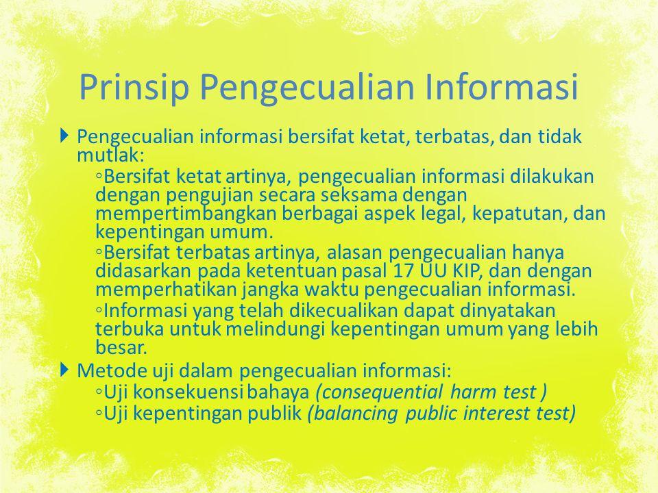 Prinsip Pengecualian Informasi