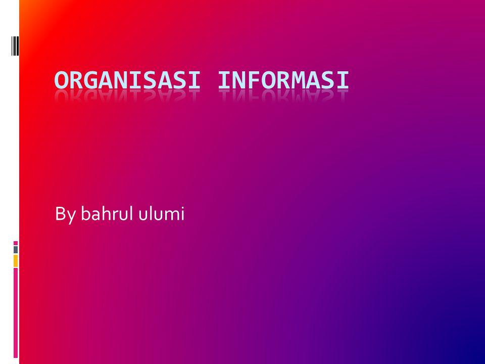 Organisasi Informasi By bahrul ulumi