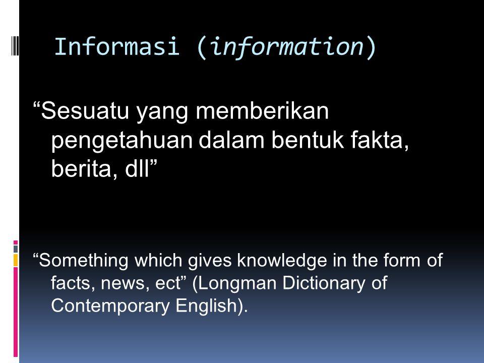 Informasi (information)