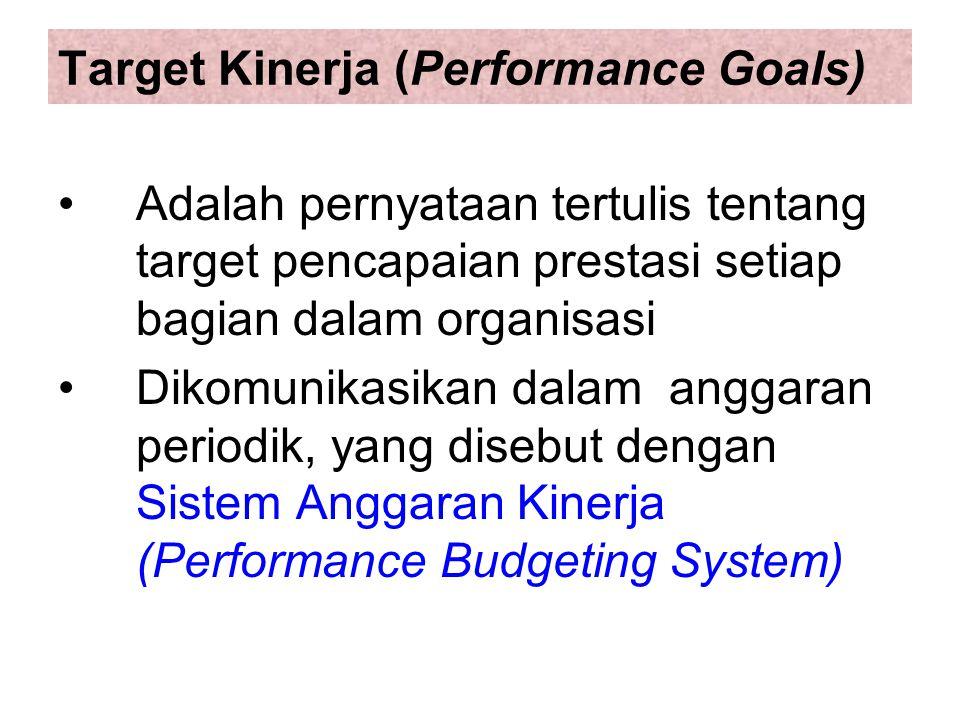 Target Kinerja (Performance Goals)