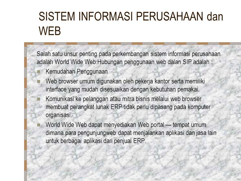 SISTEM INFORMASI PERUSAHAAN dan WEB