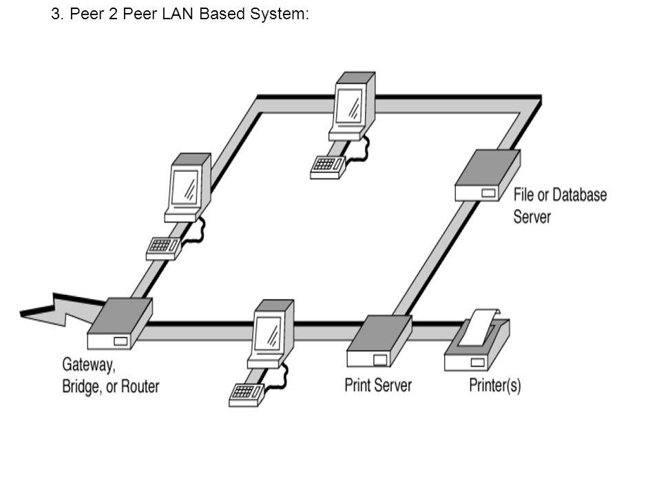 3. Peer 2 Peer LAN Based System: