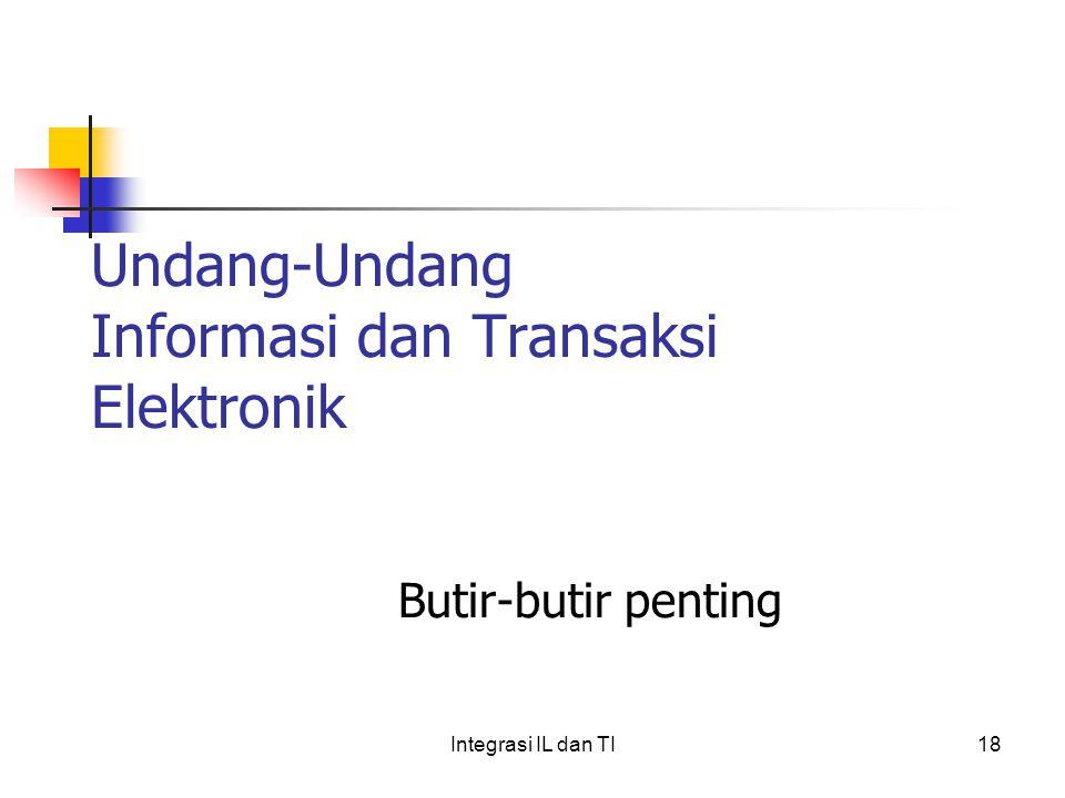 Undang-Undang Informasi dan Transaksi Elektronik