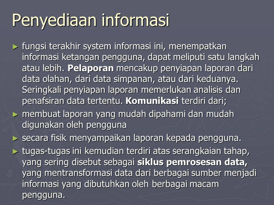 Penyediaan informasi