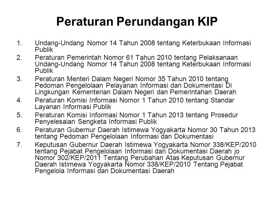 Peraturan Perundangan KIP